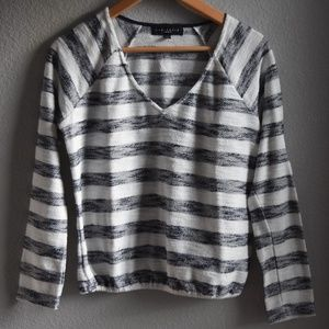 Sanctuary Textured Knit Popover Sweat Shirt Small